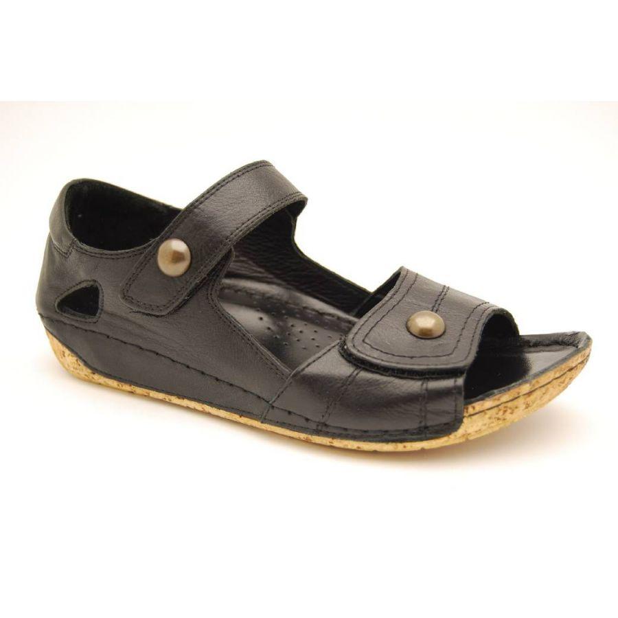 CHARLOTTE svart sandalett
