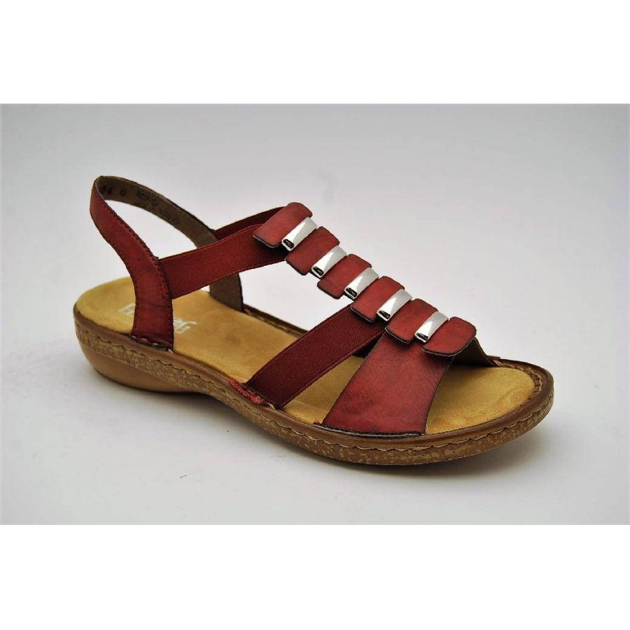 Anderbergs skor RIEKER röd sandal